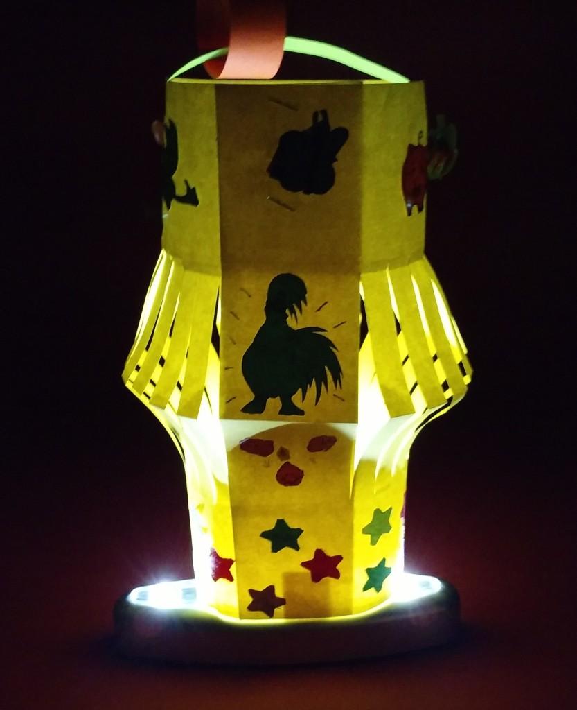 Lanterna di Bargiglio illuminata